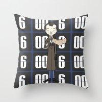 phil jones Throw Pillows featuring Phil by Derek Eads