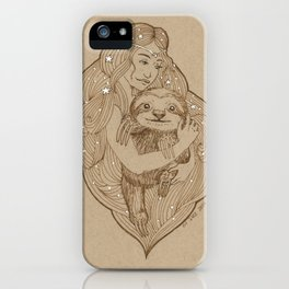 Slothy Christmas iPhone Case