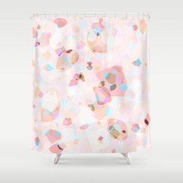 Terrazzo Crystals I. Shower Curtain