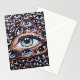 All-seeing world Stationery Cards
