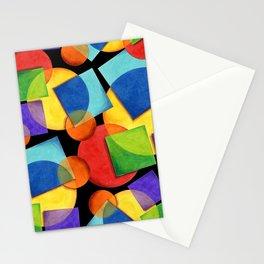 Candy Rainbow Geometric Stationery Cards