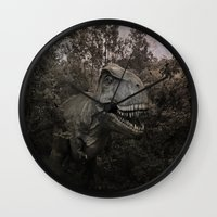 dinosaurs Wall Clocks featuring Dinosaurs by TaLins