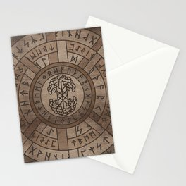 Web of Wyrd The Matrix of Fate and Tree of life Stationery Cards
