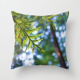 Evergreen Dreams Throw Pillow
