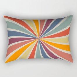 Spiral Stripe Retro Rainbow Rectangular Pillow