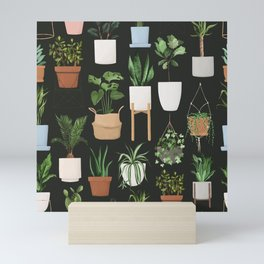 A collection for plant lovers botanical seamless pattern Mini Art Print