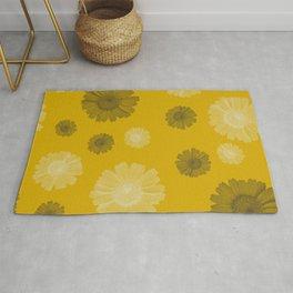 corn marigold print Rug