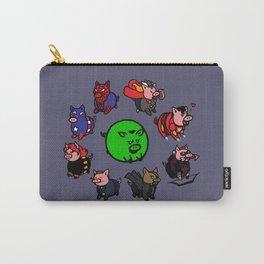Pig-vengers Assemble! (Blue) Carry-All Pouch