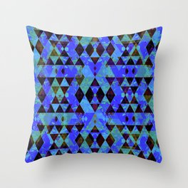 Pretty pattern blue Throw Pillow
