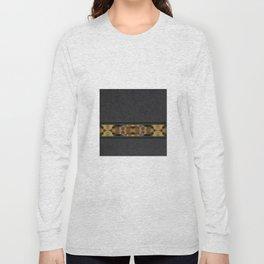 Textured Southwestern Stripe Pattern Long Sleeve T-shirt