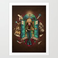 bad wolf Art Prints featuring Bad Wolf by Omega Man 5000