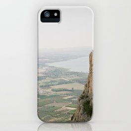 Mt. Arbel and the Sea of Galilee - Holy Land Fine Art Film Photography iPhone Case