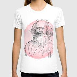 hand drawn portrait of karl marx . sketch style  T-shirt