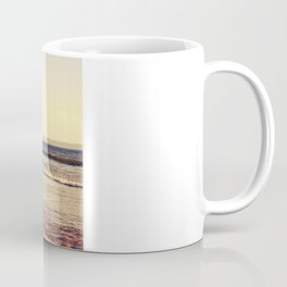 Father and son surfing colour Coffee Mug