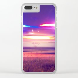 car police without tyres Clear iPhone Case