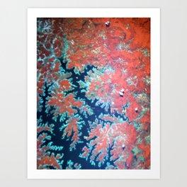 Deep craky earth view texture Art Print