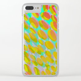 shifting dots in bright color Clear iPhone Case