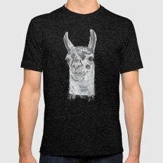 Llama Mens Fitted Tee Tri-Black SMALL