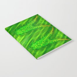 Pattern by nature's colors, green ... Notebook