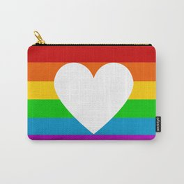 rainbow heart Carry-All Pouch