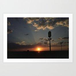 Sunrise/Sunset Art Print
