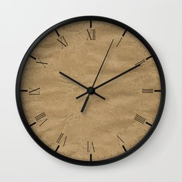 Brown Wrapping Paper Background Wall Clock