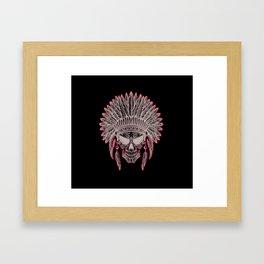 Skull cheaf Framed Art Print