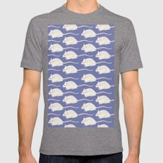ALL THE MICE Mens Fitted Tee Tri-Grey SMALL