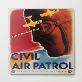 Vintage poster - Civil Air Patrol Metal Print