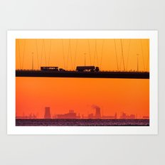 Working Dawn Art Print