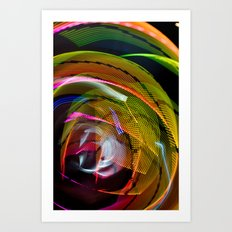 Experiments in Light Abstraction 3 Art Print
