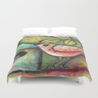 shopping Duvet Covers featuring House Shopping by Terri Stegmiller