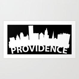 Curved Skyline Of Providence RI Art Print