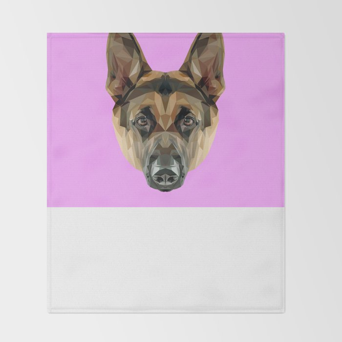 German Shepherd // Lilac Throw Blanket
