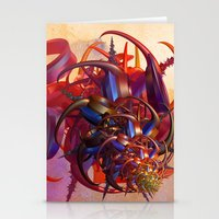 sci fi Stationery Cards featuring Sci-fi insect by Gaspar Avila