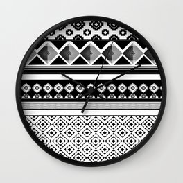 Modern Black 2 Wall Clock