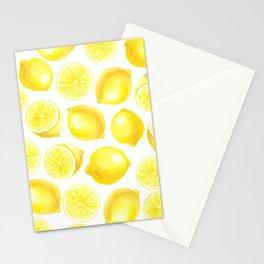 Watercolor lemons design Stationery Cards