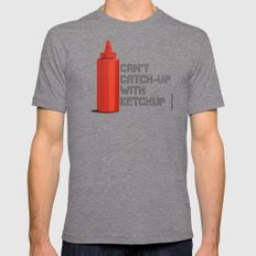 Ketchup Pride - Condiment Race Catsup Mens Fitted Tee Tri-Grey SMALL
