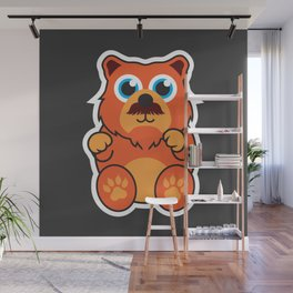 Fire Bear Wall Mural