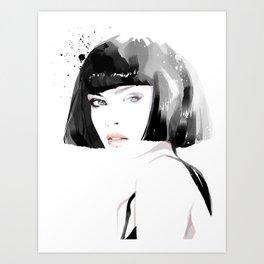Fashion Painting #8 Art Print