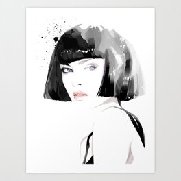 Fashion Painting #8 Art Print