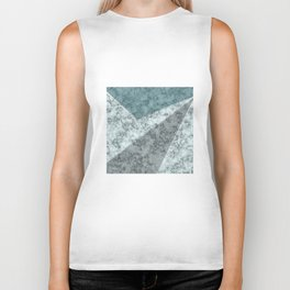 Combined abstract pattern .Green marble . Biker Tank