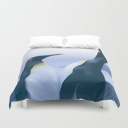 King Penguins Duvet Cover