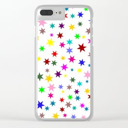 Colorful stars Clear iPhone Case