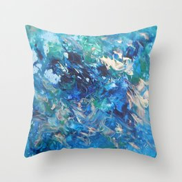 A Boat's Wake Throw Pillow