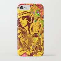 springsteen iPhone & iPod Cases featuring The Seventies 1970's Alice Cooper, Jackson, Springsteen, Aerosmith by Storm Media