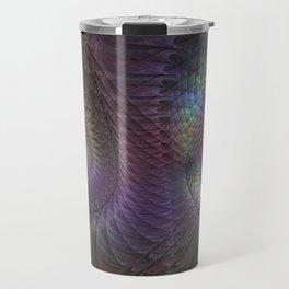 Fantasy Spirals Fractals Art Travel Mug