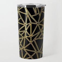 Abstract Blocks Gold Travel Mug