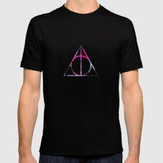 The Deathly Space Hallows Mens Fitted Tee MEDIUM Black