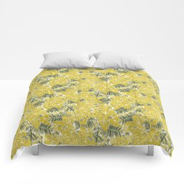 Yellow Mimosa Comforters